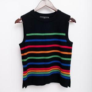 St John Sport By Marie Gray Knit Sweater Rainbow